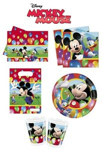 Mickey-Mouse-Party-Time-Birthday-Party-Decoration-Items-Tableware-Supplies