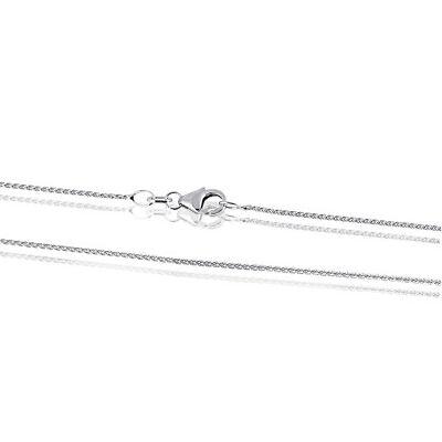 Goldmaid Kette 585er Weissgold Weißgoldkette Zopfkette Karabiner Halskette 45 cm