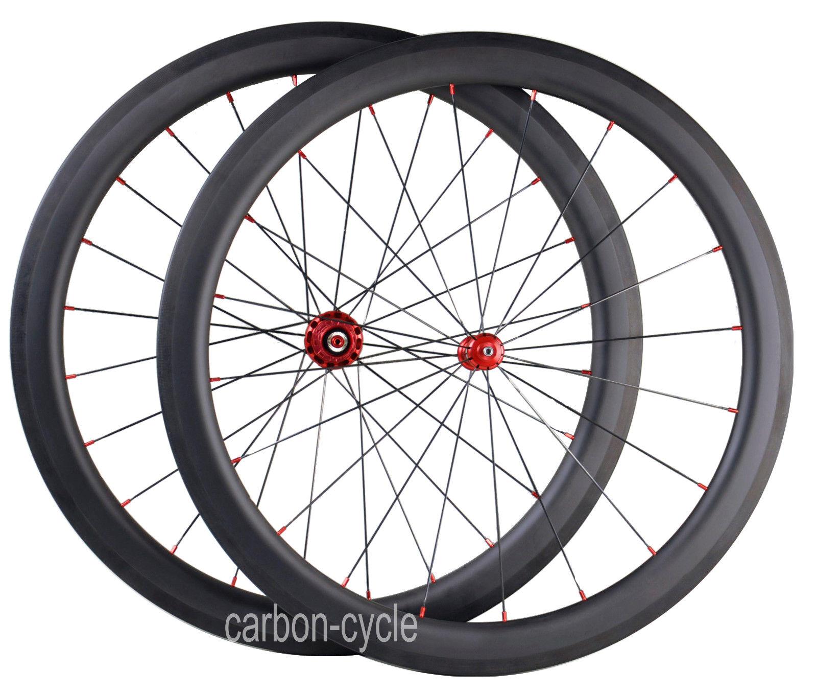 Sapim 50mm Carbon Clincher Wheel Straight pull 700C R36 Road Bicycle Rim UD Matt