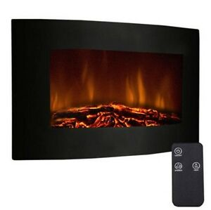 New 35 Xl Southern Enterprises Cartwright Faux Stone Corner Large 1500w Adjustable Electric Wall Mount Fireplace Heater W Remote