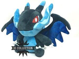 Details About Pokemon Mega Charizard X 30 Cm Soft Toy Megacharizard Dracaufeu Glurak Shiny