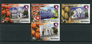 Romania 2017 MNH Pitesti Symphony of Tulips 4v Set Flowers Architecture Stamps