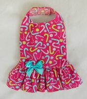 Xxs Pink Candy Cane Christmas Dog Dress Clothes Pet Teacup Pc Dog®