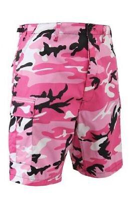 Klug Pink Rosa Camo Bdu Cargo Freizeit Shorts Hose Bermuda Kurz Camouflage Medium HöChste Bequemlichkeit