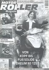 Daelim NS 125 Hyosung Hyper Hexagon LX Test Sonderdruck 5/98 Roller Magazin 1998