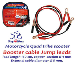 Lampa Motorcycle motorbike scooter 12v booster cable Jump leads for Kawasaki