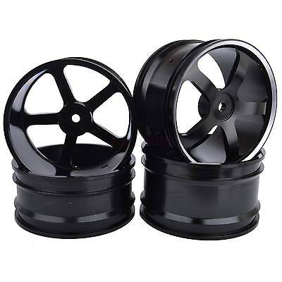 4PCS RC 1/10 Off-Road Buggy Car Metal Front & Rear Wheel Hub Rim For tires M05A