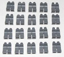 Lego Lot of 20 New Dark Bluish Grey Hips Legs Jeans Minifigure Pants Gray Part