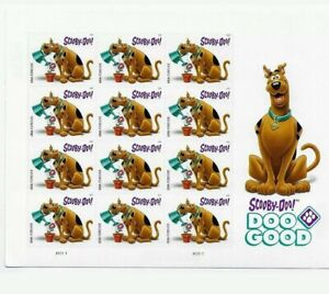 Scooby Doo Sheet of 12 USPS Forever Stamps