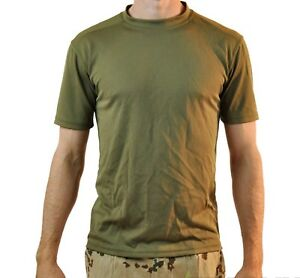 ab668257 Image is loading British-Army-Olive-Coolmax-T-Shirts