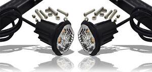 12/24V Weiß LED Refugium bündig Passform Halterung Blink Lichtleiste - 4 LED X2