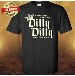 38f18d42673 Bud Light DILLY DILLY A True Friend of the Crown Black T-Shirt