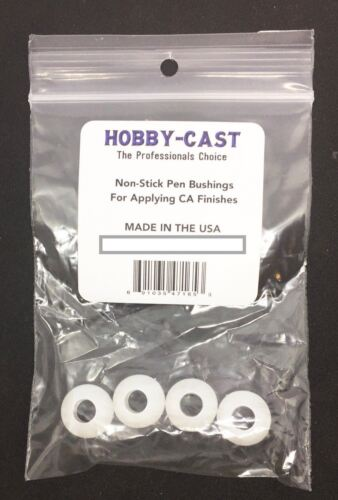 Hobby-Cast Non-Stick Pen Bushings for CA Finish MADE IN THE USA 4pack