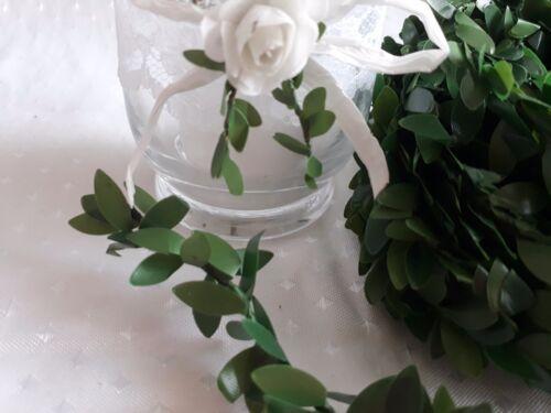 3m Buchsbaumgirlande Blätter 15mm Girlande Taufe Hochzeit Kommunion Tischdeko