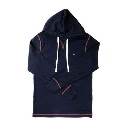 NEW Tommy Hilfiger Mens Long Sleeve Heritage Ribbed Shirt Hoodie