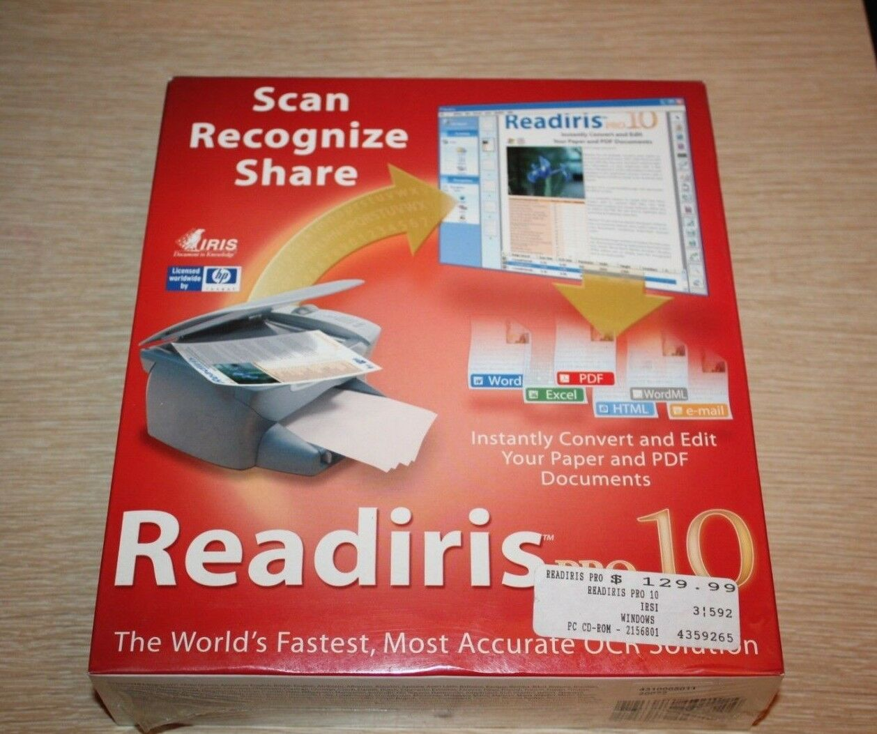 Iris Readiris Pro 10 License Only 1