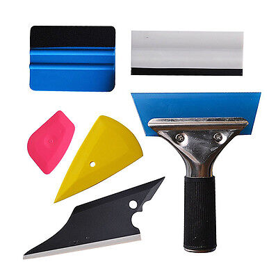Wallpaper Scraper Car Window Film Tools Squeegee Trapezoidal Soft Scrape DT
