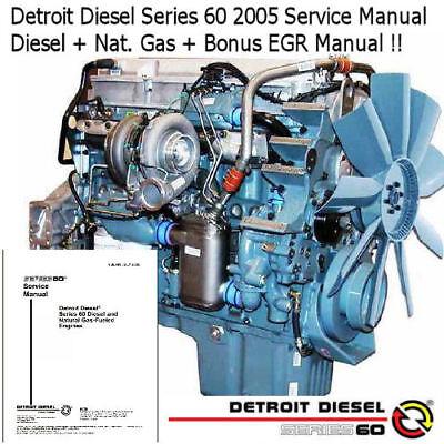 Detroit Diesel Series 60 1996 Service Manual Diesel Workshop Repair PDF CD !