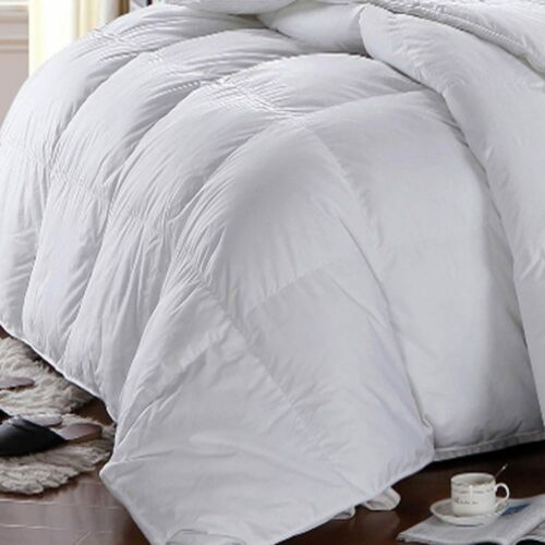 White Baffle Box Hungarian Down Alternative Comforter Ultra Soft Winter Weight
