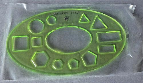 Vintage grün BRAUSE Schablone f unbenutzt Mengenlehre transparent d OVP
