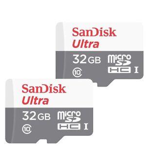 2x 32GB SanDisk  Ultra 80MB/s Class 10 UHS-I Micro SD SDHC Memory Card SDSQUNS 645729829473