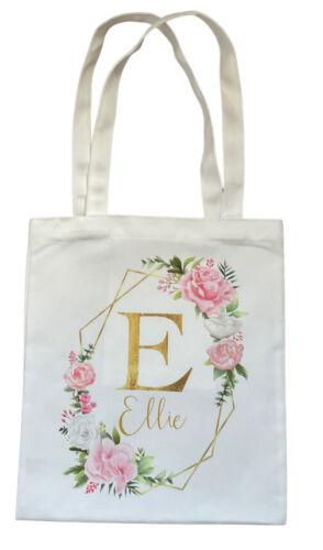 Personalised Geo Letter ~ Cream tote bag chic birthday bridesmaid bag gift