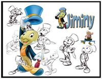 Jiminy Cricket Fridge Magnet Logo 3. 4 X 5. Disney Cartoons.....free Shipping