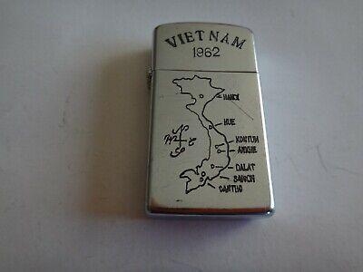 Vietnam War Year 1962 Zippo Slim Lighter VIETNAM 1962