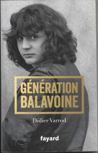 Génération Balavoine de Didier Varrod