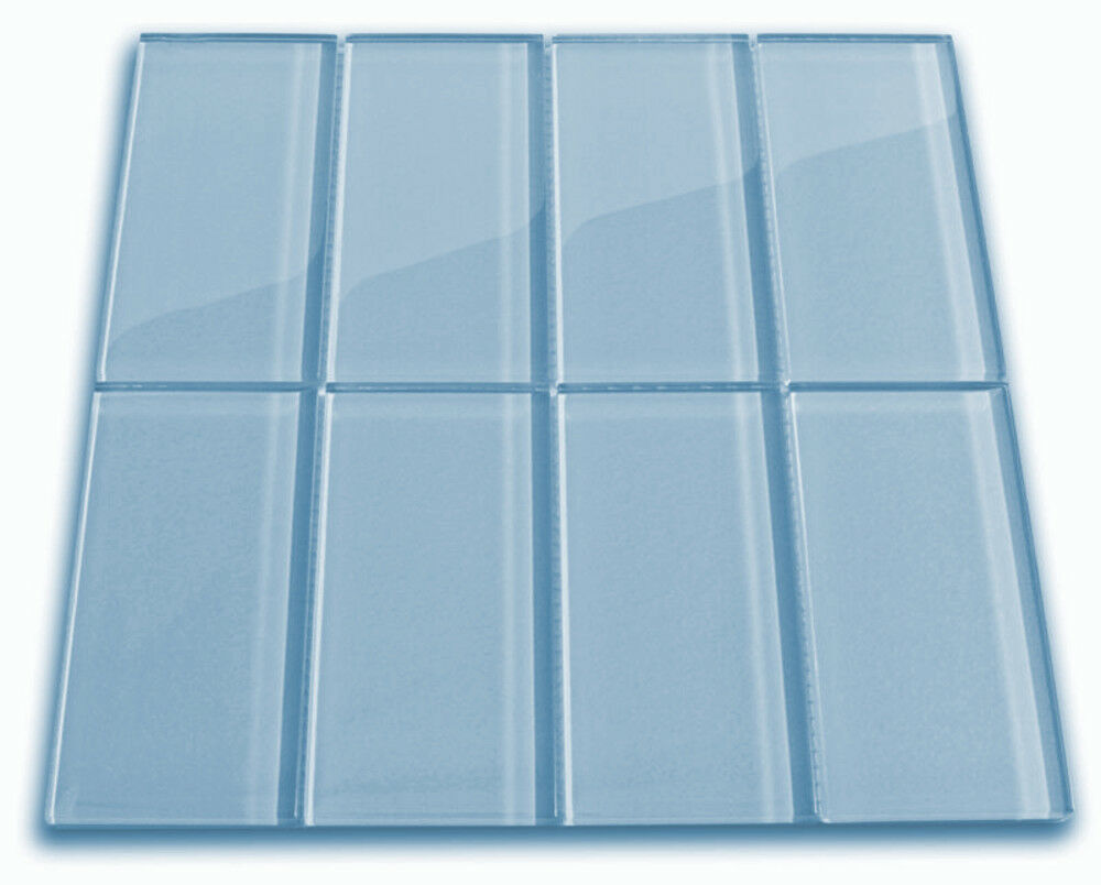 - Sky Blue Glass Subway Tile 3x6 For Backsplashes, Showers & More