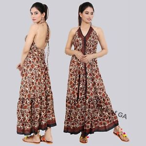 Dress-Indian-Vintage-Silk-Summer-Magic-Dress-Up-cycle-Bohemian-Floral-Printed