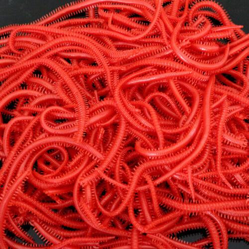 10x Set Gummi Fischköder Tausendfüßler Red Worm Fishing Tackle Zubehör BCDE