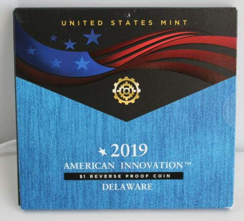 2019 S American Innovation Delaware $1 Reverse Proof Coin -19GE US Mint