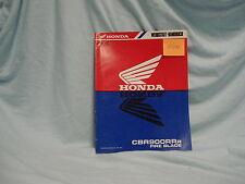 Honda CBR 900 RR R 1994 Nachtrag Werkstatthandbuch Reparaturhandbuch manual