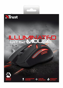 NEW-TRUST-ILLUMINATED-6-BUTTON-GAMING-MOUSE-GXT152-ADJUSTABLE-600-TO-2400-DPPI