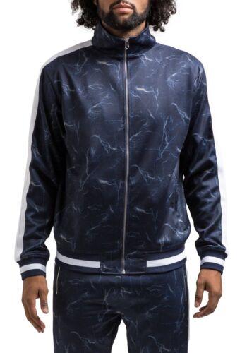 """Hudson Outerwear Blue /""""Lightning/"""" Track Jacket"""