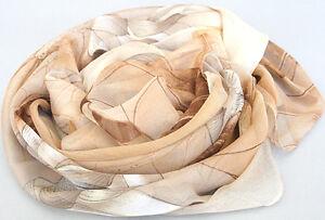 New-Women-039-s-Kahki-Georgette-Long-Wrap-Shawl-Beach-Silk-Scarf-lotus