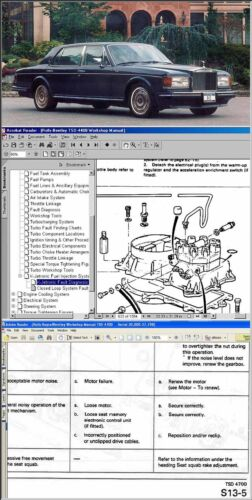 ROLLS ROYCE Workshop /& Service Manual CD /'87½-/'89! BENTLEY