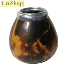 M90 NATURAL MATE GOURD WITH FIRE DECORATED SPLASH - CUP FOR YERBA MATE