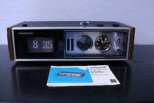 Vintage 1970 Panasonic National RC-7469  Flip Snooze/Alarm Clock Radio w Manual