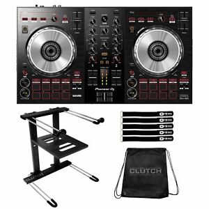 Pioneer DDJ-SB3 2-Channel Serato Software DJ Controller Mixer w Laptop Stand