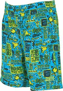6dd6bf3eccad8 Zoggs Junior Boy's Swimming Shorts Jade/Multi-Colour for 6-15 Years ...