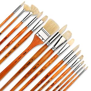 Artify 15 pcs Oil Professional Paint Brushes Artist Grade Paintbrush Set