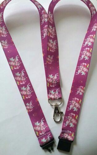 Unicorn purple ribbon lanyard breakaway ID badge holder Christmas student gift