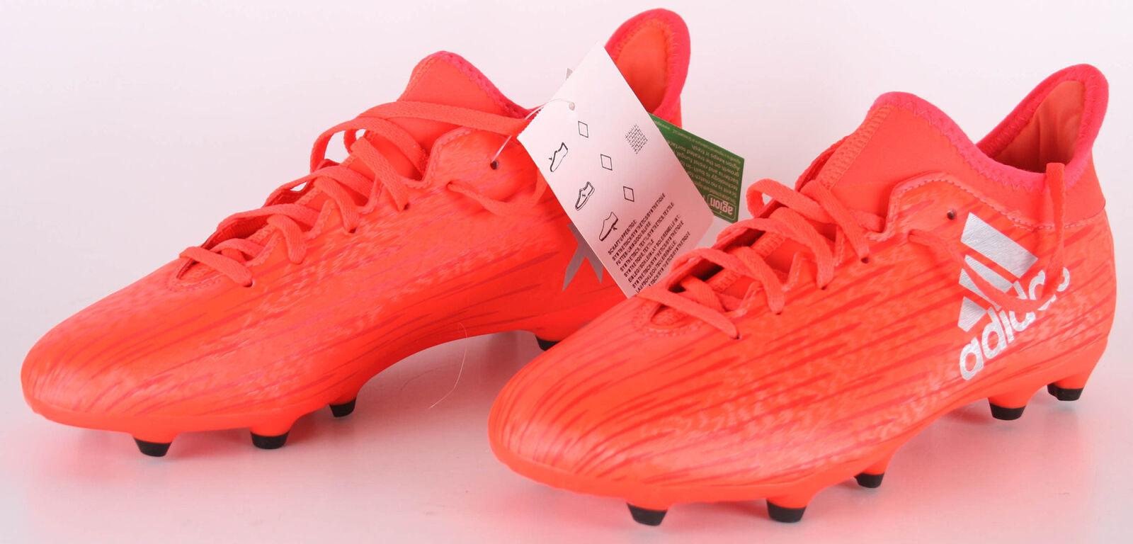 Adidas x 16.3 Fg J Scarpe da Calcio Eu 37 13 Rosso Coloreee RossoPlametRoalre
