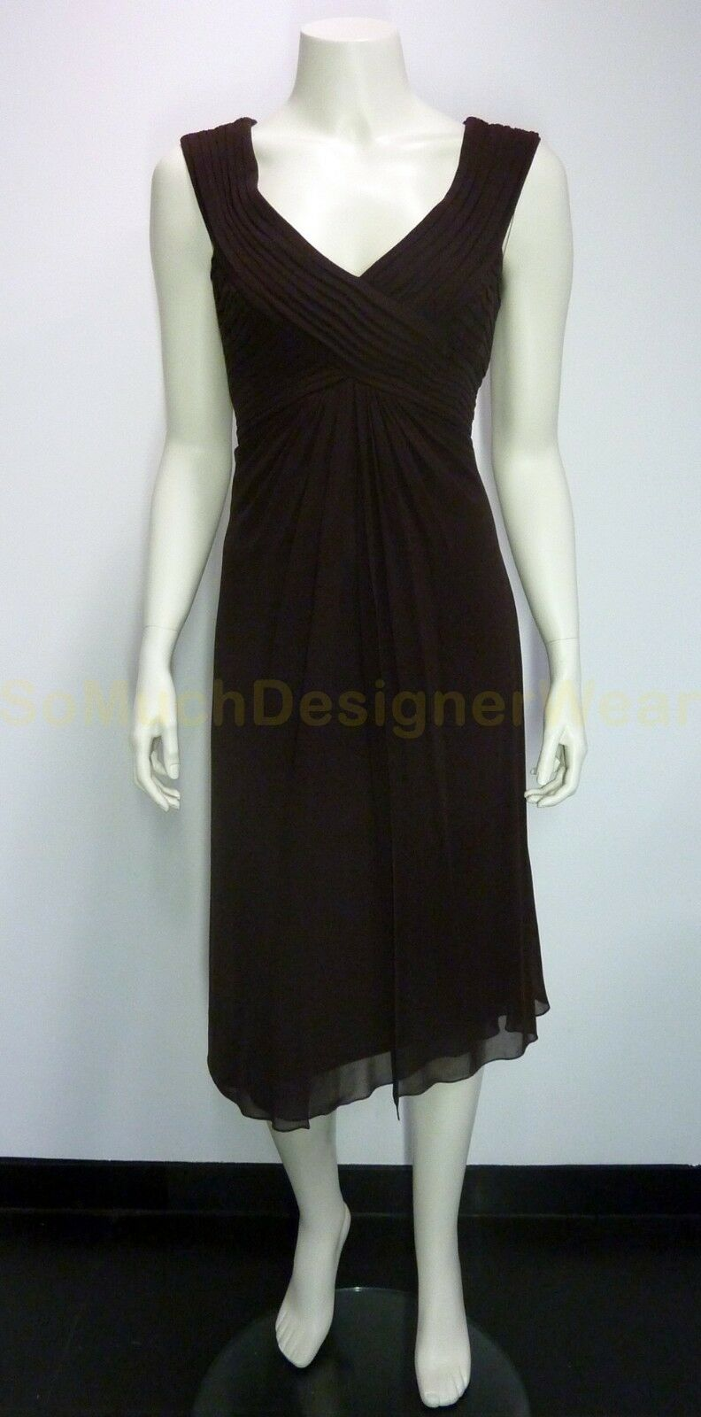 TADASHI jurk US8 EU36 donkerbruin NIEUW+LABELS ap  275