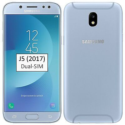 New Samsung Galaxy J5 2017 Dual-SIM 16GB Blue SM-J530F Factory Unlocked Simfree