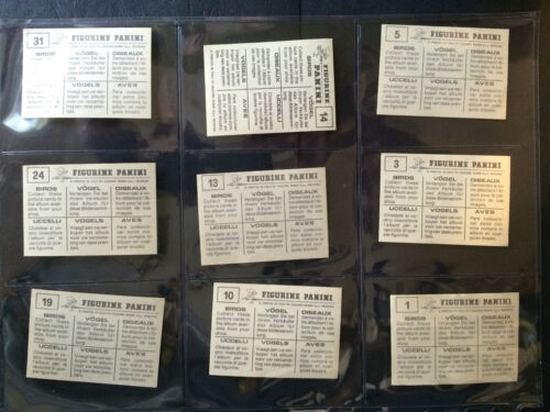 1-127 PANINI ***PICK THE CARDS YOU NEED*** BIRDS G