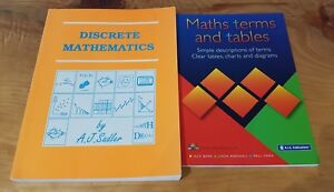 Details about 2 TEXTBOOKS DISCRETE MATHEMATICS BY A J SADLER & MATHS TERMS  AND TABLES
