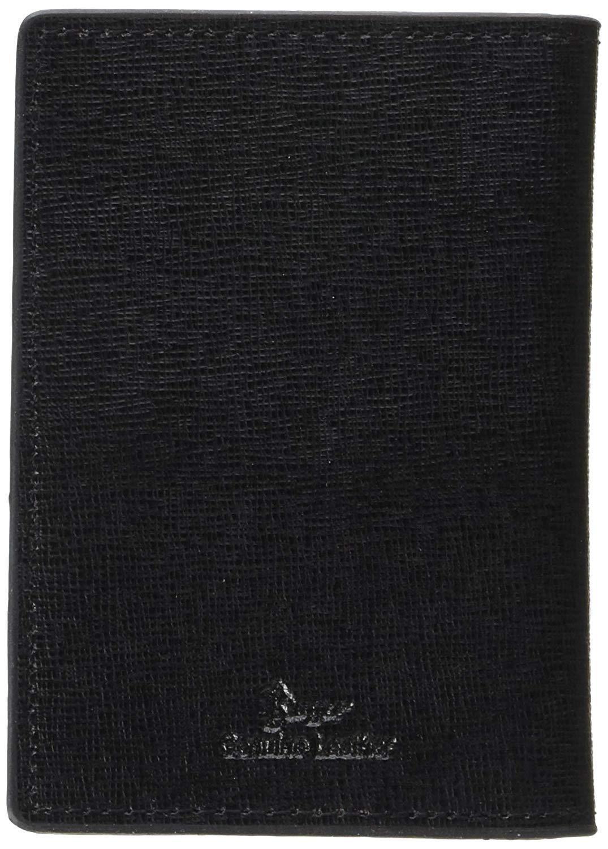 Royce New York HERREN HERREN HERREN Saffiano-Leder Rfid Fronttasche Ausweis Hülle Schwarz | Bevorzugtes Material  01c5c4